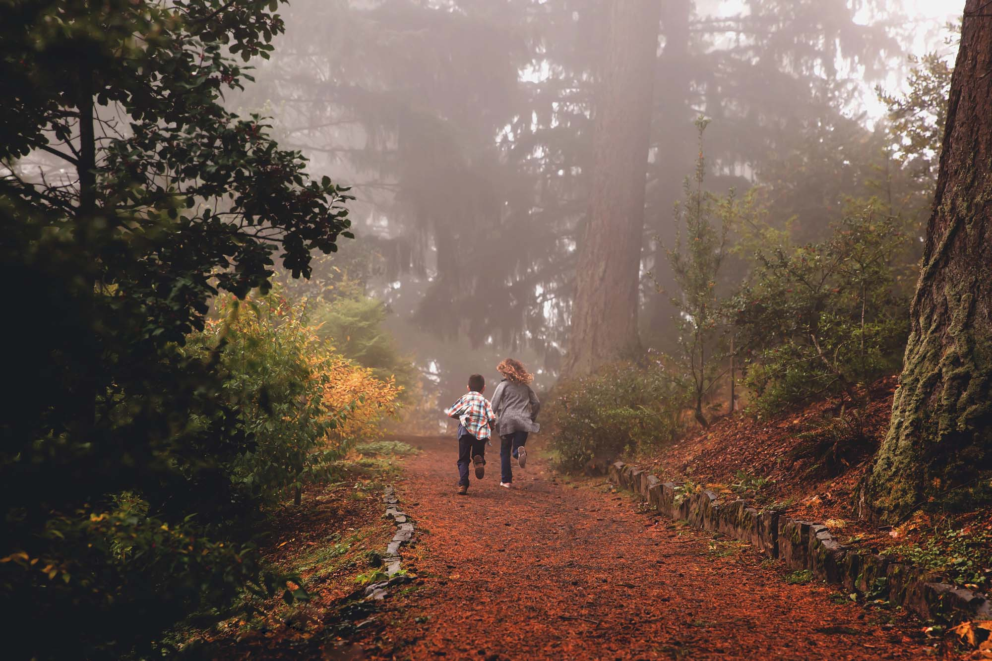 Fall Family session at Hoyt Arboretum in Portland Oregon by Photographer Annie Helen