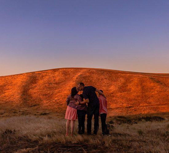 The Dalles Oregon Sunrise Family
