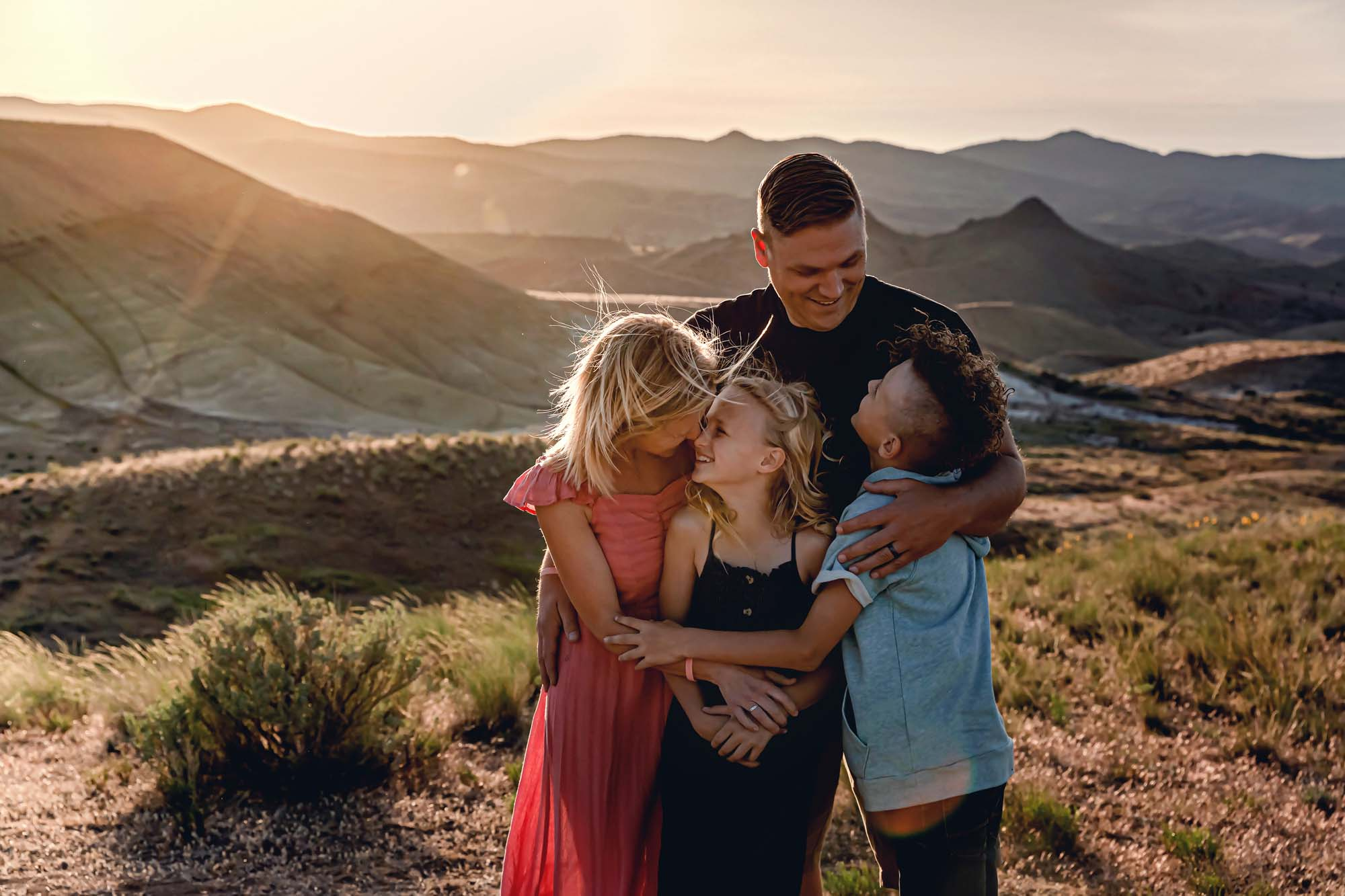 Family portrait at the Painted Hills Oregon